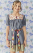 Сукня розкльошеного крою з рукавами-ліхтариками - фото 1