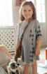 Сукня з куліскою на талії для дівчинки - фото 1
