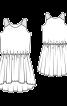 Сукня на кокетках і з видовженою ззаду спідницею - фото 3