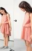 Сукня на кокетках і з видовженою ззаду спідницею - фото 5