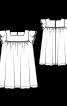 Сукня широкого крою з рукавами-крильцями - фото 3