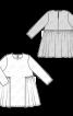Сукня розкльошеного силуету з відлітною деталлю - фото 3