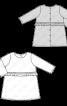 Сукня трикотажна А-силуету з оборкою - фото 3