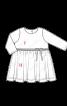 Сукня трикотажна з подвійною спідницею - фото 3