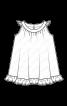 Сарафан А-силуету з оборками - фото 3