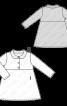 Сукня з контрастним відкладним коміром - фото 3