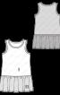 Сукня трикотажна з оборкою - фото 3