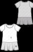 Сукня трикотажна з воланом - фото 3