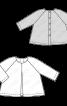 Туніка А-силуету з довгими рукавами реглан - фото 3