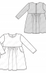 Сукня вельветова із завищеною талією - фото 3