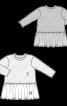 Сукня трикотажна комбінована - фото 3
