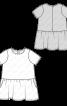 Сукня розкльошеного крою з широкою оборкою - фото 3