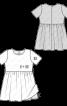 Сукня з призбореною спідницею і короткими рукавами - фото 3