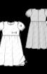 Сукня з призбореною спідницею і рукавами-ліхтариками - фото 3