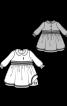 Сукня з пишною спідницею і відкладним коміром - фото 3