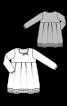 Сукня силуету ампір з бантовими складками - фото 3