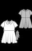 Сукня відрізна з короткими рукавами і відкладним коміром - фото 3