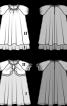 Сукня А-силуету з короткими рукавами реглан - фото 3