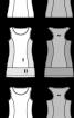 Сукня-майка трикотажна з оборкою - фото 3