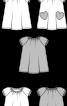 Сукня розкльошеного силуету з рукавами реглан - фото 3