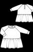 Сукня на кнопках із рукавами реглан - фото 3