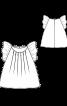 Блузка А-силуету з крильцями - фото 3