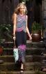 Сукня максі з ефектом накидки - фото 4