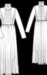 Сукня з вузьким ліфом і високим коміром - фото 3