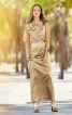 Сукня максі з драпіровками і асиметрією - фото 1