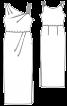 Сукня максі з драпіровками і асиметрією - фото 3