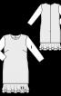 Сукня двошарова з рукавами 3/4 - фото 3