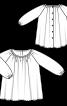 Сукня просторого крою з рукавами реглан - фото 3