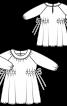 Сукня з боковими кулісками і рукавами реглан - фото 3