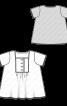 Блузка розкльошеного силуету з пластроном - фото 3