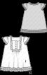 Сукня розкльошеного силуету з пластроном - фото 3