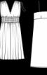 Сукня з V-подібними вирізами і чохлом - фото 3