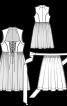 Сукня з рельєфними швами і фартух - фото 3