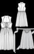 Сукня з високим коміром і фартухом - фото 3