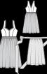 Сукня з ліфом-корсажем і фартухом - фото 3