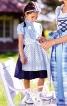 Сукня з рукавами-ліхтариками і фартухи  - фото 1