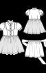 Сукня з рукавами-ліхтариками і фартухи  - фото 3