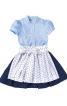 Сукня з рукавами-ліхтариками і фартухи  - фото 4