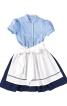Сукня з рукавами-ліхтариками і фартухи  - фото 5