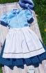 Сукня з рукавами-ліхтариками і фартухи  - фото 2