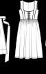 Сукня шовкова і фартух у баварському стилі - фото 3