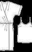 Сукня з ефектом запаху і топ на бретелях - фото 3