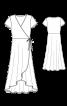 Сукня максі із запахом - фото 3