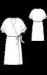 Платье лаконичного кроя с запахом - фото 3