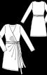 Сукня відрізна із запахом і поясом-зав'язкою - фото 3