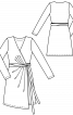 Сукня із запахом і асиметричним низом - фото 3